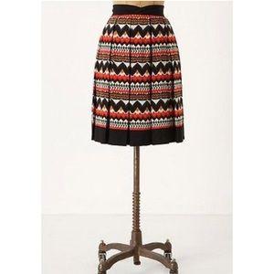 Anthropologie Fei Denpasar Aztec Lined Skirt SZ 2